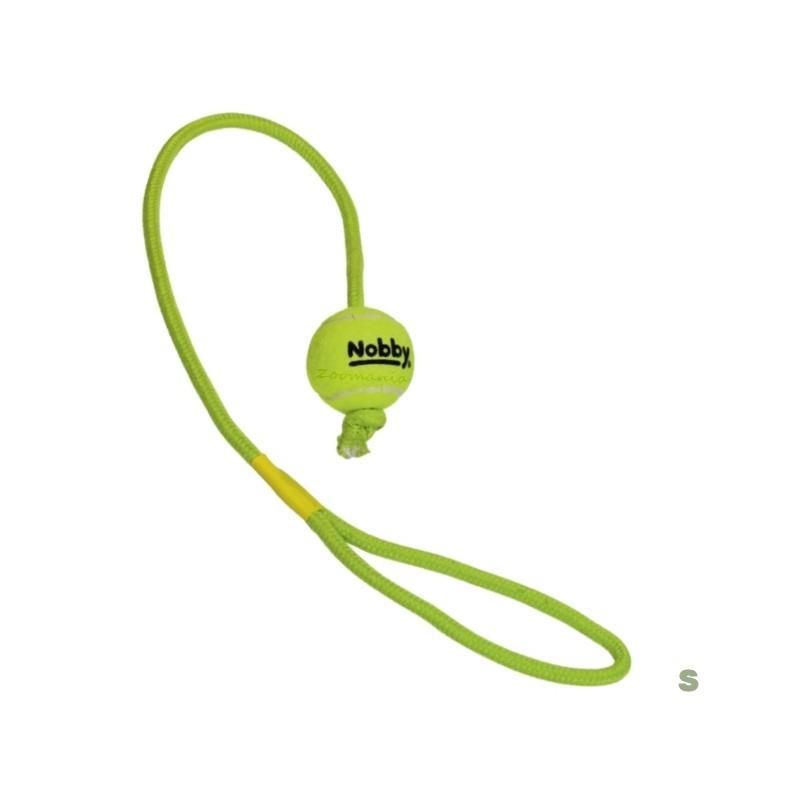 Кучешка играчка - Тенис топка с въже