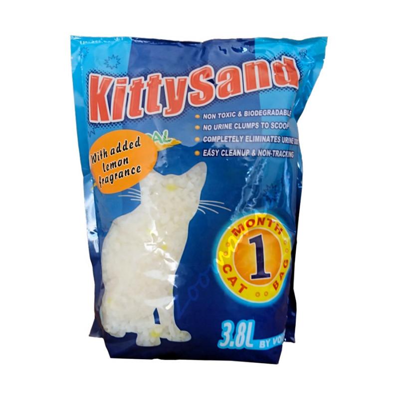 Котешка тоалетна от силикон - Силика гел KittySand лимон - 3.8 л