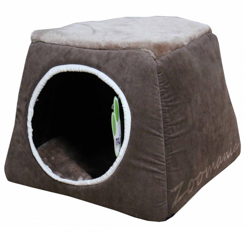 Плюшена къщичка за коте или кученце