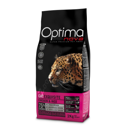 "Optima Nova ""Cat Exquisite Пиле с ориз"" - 8 кг"