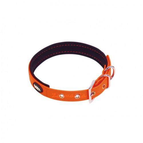 Повод + нашийник Nobby Cover - оранжев неон 30-40 см
