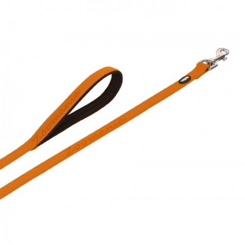 Комплект кучешки повод с нашийник - Cover - оранжев неон 30-40 см