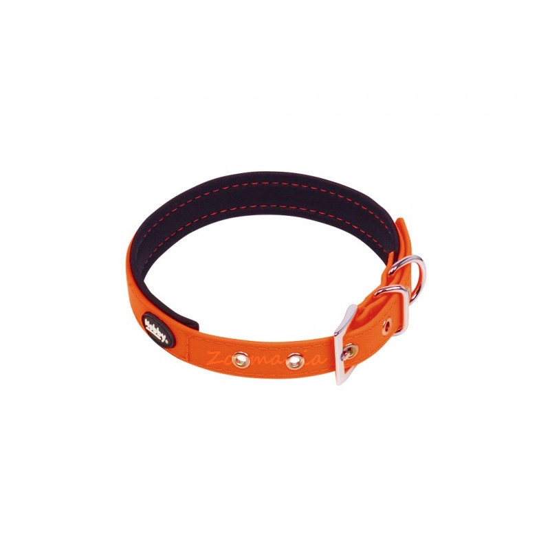 Комплект кучешки повод с нашийник - Cover - оранжев неон 35-45 см