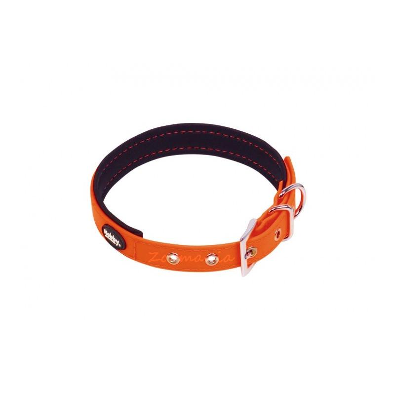 Комплект кучешки повод с нашийник - Cover - оранжев неон 50-60 см