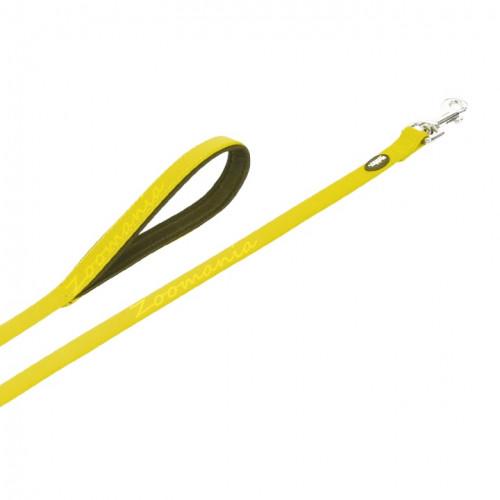 Комплект кучешки повод с нашийник - Cover - жълт неон 35-45 см