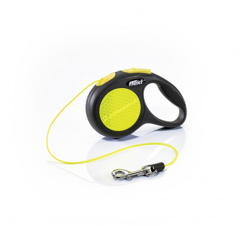 Автоматичен повод за кучета до 8 кг - Flexi New Neon XS с въже 3 м