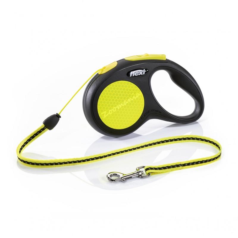 Автоматичен повод за кучета до 12 кг - Flexi New Neon S с въже 5 м
