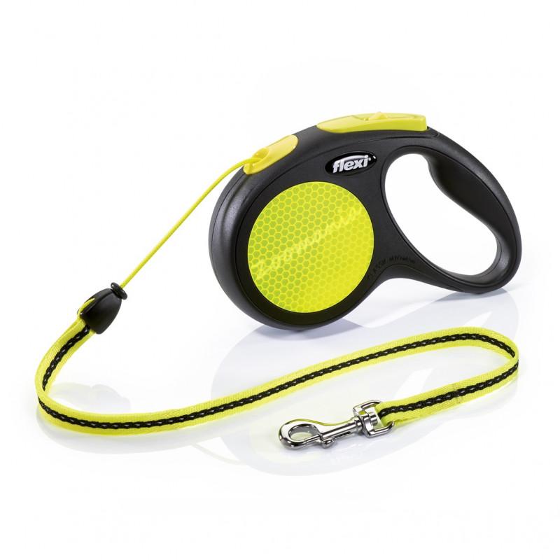 Автоматичен повод за кучета до 20 кг - Flexi New Neon M с въже 5 м