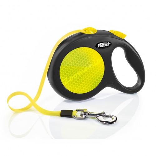 Автоматичен повод за кучета до 50 кг - Flexi New Neon L с лента 5 м