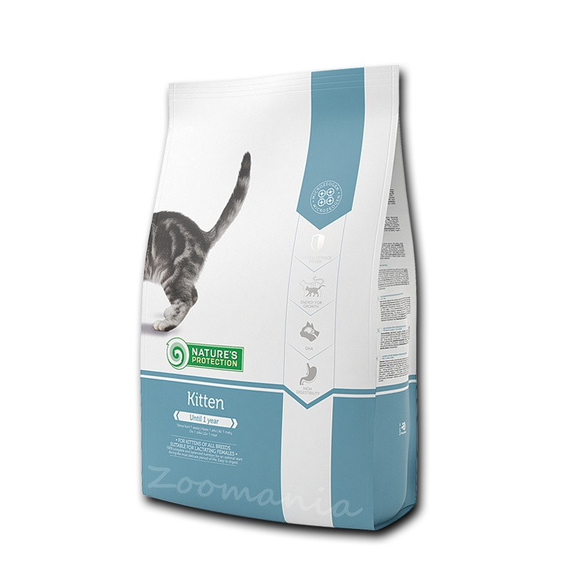 "Качествена храна за малко коте Nature's Protection ""Kitten"" - 7 кг"