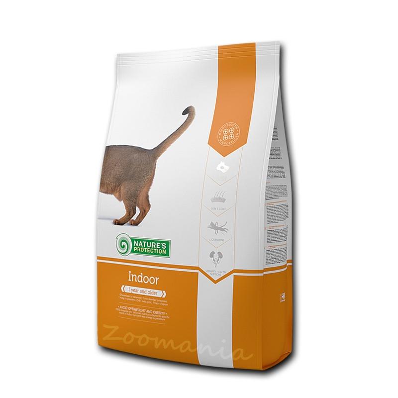 """Храна за котки със застоял начин на живот Nature's Protection """"Cat Indoor"""" - 2 кг"""