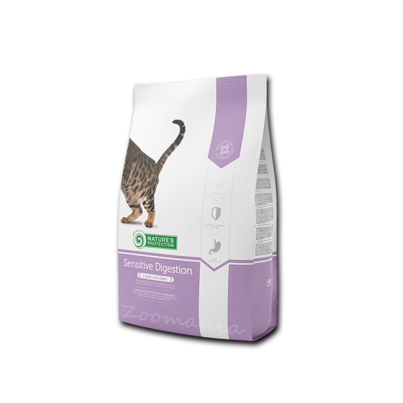 """Качествена храна за злояди котки Nature's Protection """"Cat Sensitive Digestion"""" - 0.800 кг"""