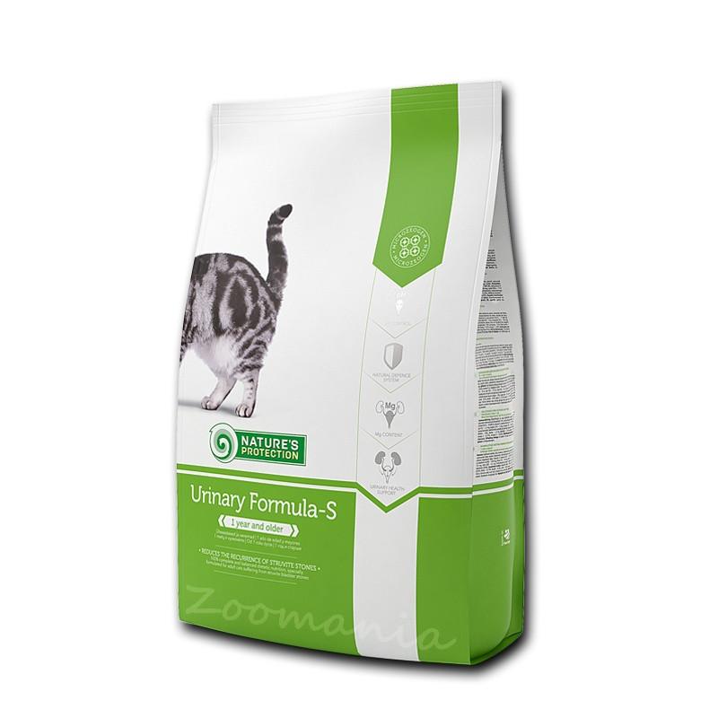 """Диетична храна за котки за камъни в пикочни мехур Nature's Protection """"Cat Urinary Formula-S"""" - 2 кг"""