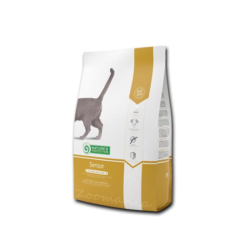"""Храна за възрастни котки по-стари от 10 години Nature's Protection """"Cat Senior"""" - 0.800 кг"""
