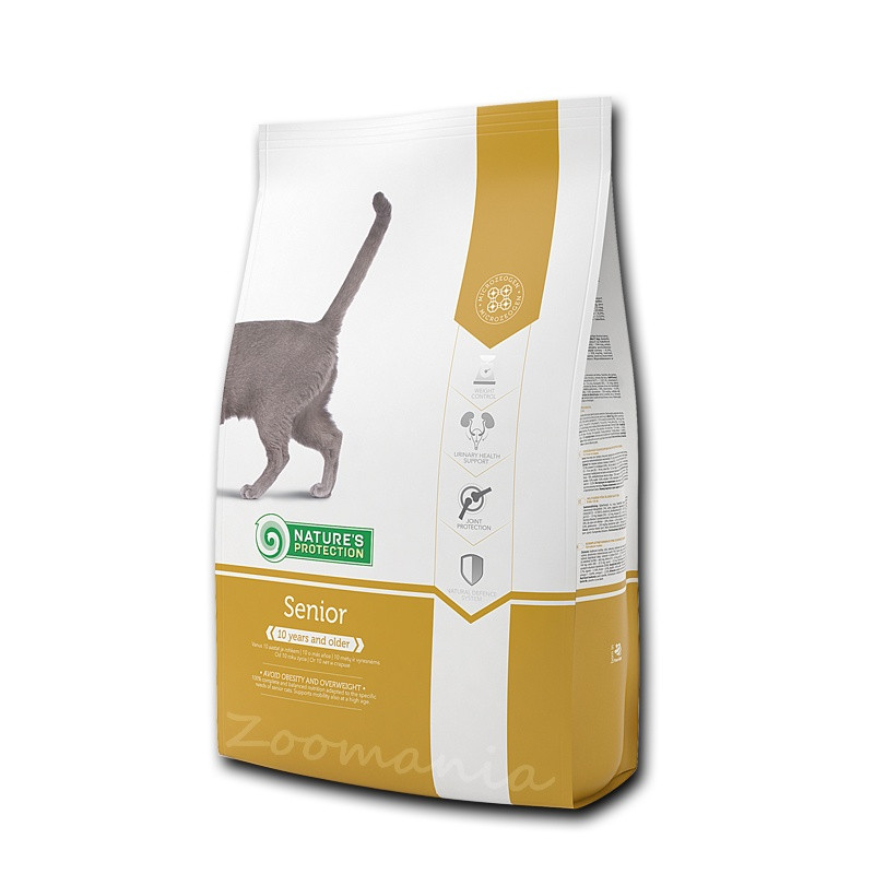 """Храна за възрастни котки по-стари от 10 години Nature's Protection """"Cat Senior"""" - 2 кг"""