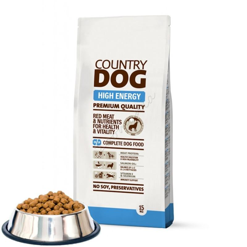 """Насипна суха храна за кучета """"Country Dog High Energy"""" - 0.500 кг от чувал"""