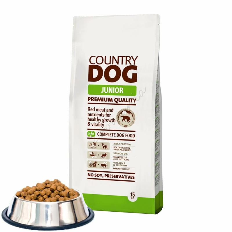 """Насипна кучешка храна с премиум качество """"Country Dog Junior"""" - 0.500 кг от чувал"""