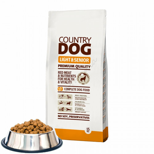 "Суха храна ""Country Dog Senior & Light"" - 0.500 кг от чувал"