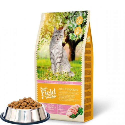 """Насипна първокачествена храна за котки Sam's Field """"Cat Adult Chicken"""""""