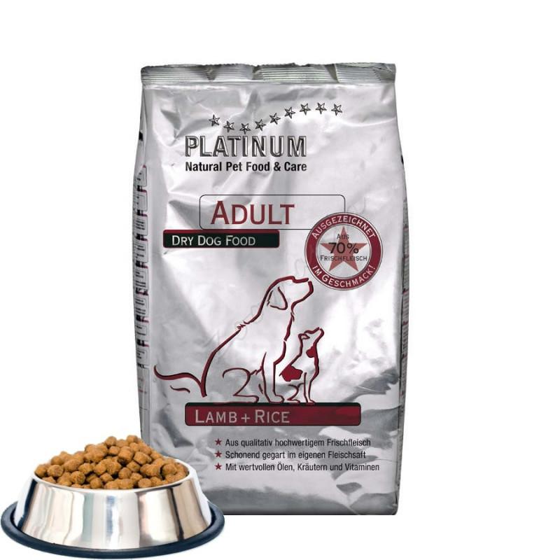 """Първокласна кучешка храна без пилешко месо """"Platinum Adult Lamb and Rice"""" - 0.500 кг"""