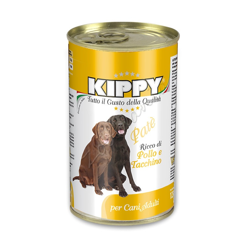 "Консерва за куче с пуешко ""Kippy Paté con Pollo e Tachinno"" - 1250 гр"