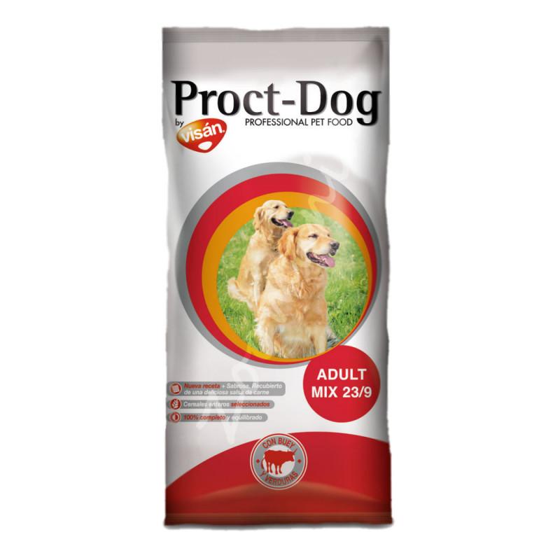 Евтина диетична храна за кучета с намалено съдържание на мазнини Proct Dog Adult Mix 23/9 - 4 кг