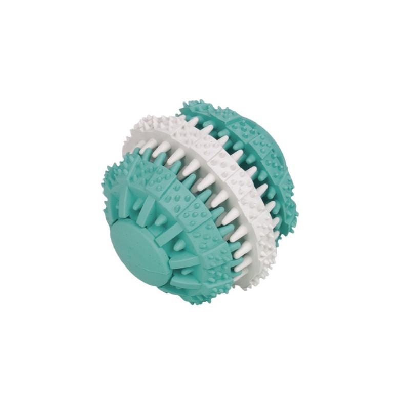 Кучешка играчка Dental Line Двуцветна топка - 6 см