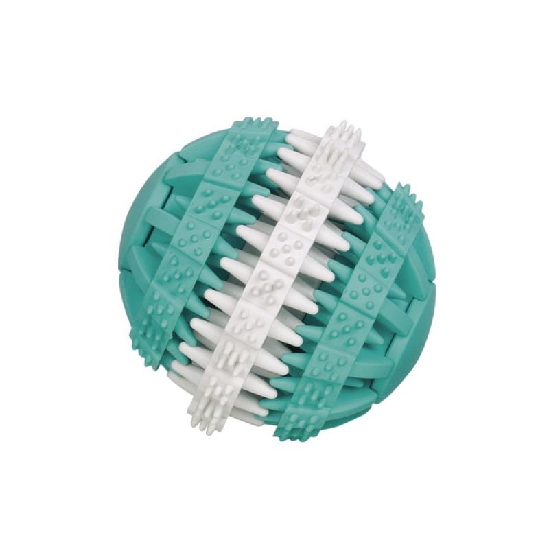 Кучешка играчка Dental Line Двуцветна топка - 7 см
