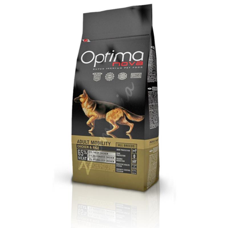 Качесртвена храна за кучета от всички породи - Optima Nova Dog Adult Mobility Chicken & Rice - 12 кг