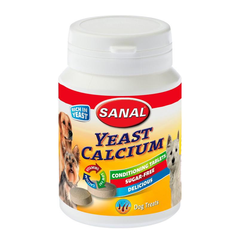 Хранителна добавка за кучета - Sanal Dog Yeast-Calcium Conditional Tablets - 75 гр.