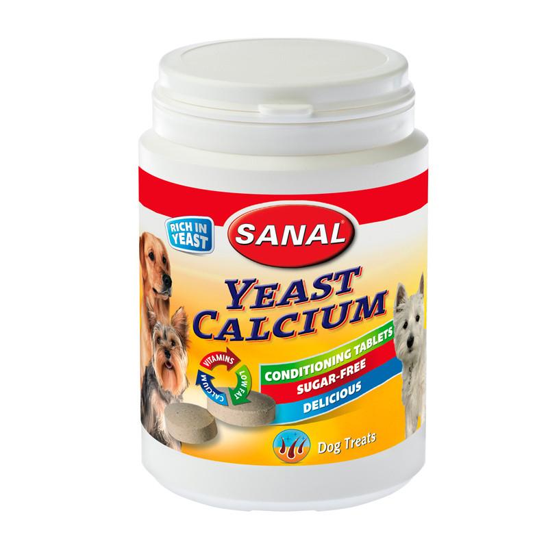 Хранителна добавка за кучета - Sanal Dog Yeast-Calcium Conditional Tablets - 150 гр.