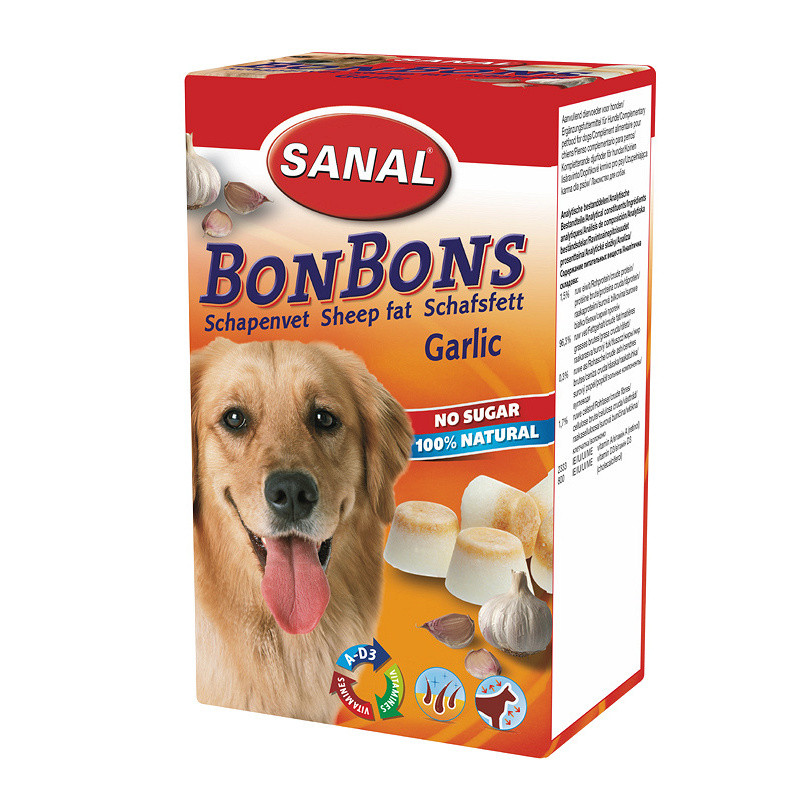 Вкусни кучешки бонбони Sheep Fat BonBons Garlic - 150 гр