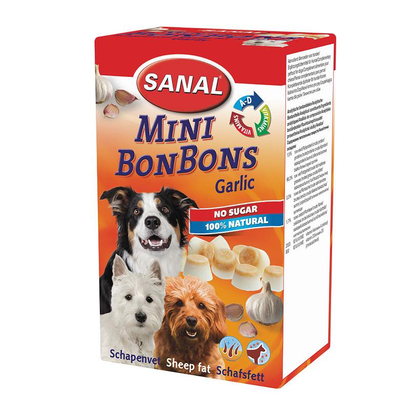 Вкусни и полезни кучешки бонбонки Sheep Fat Mini BonBons Garlic - 150 гр