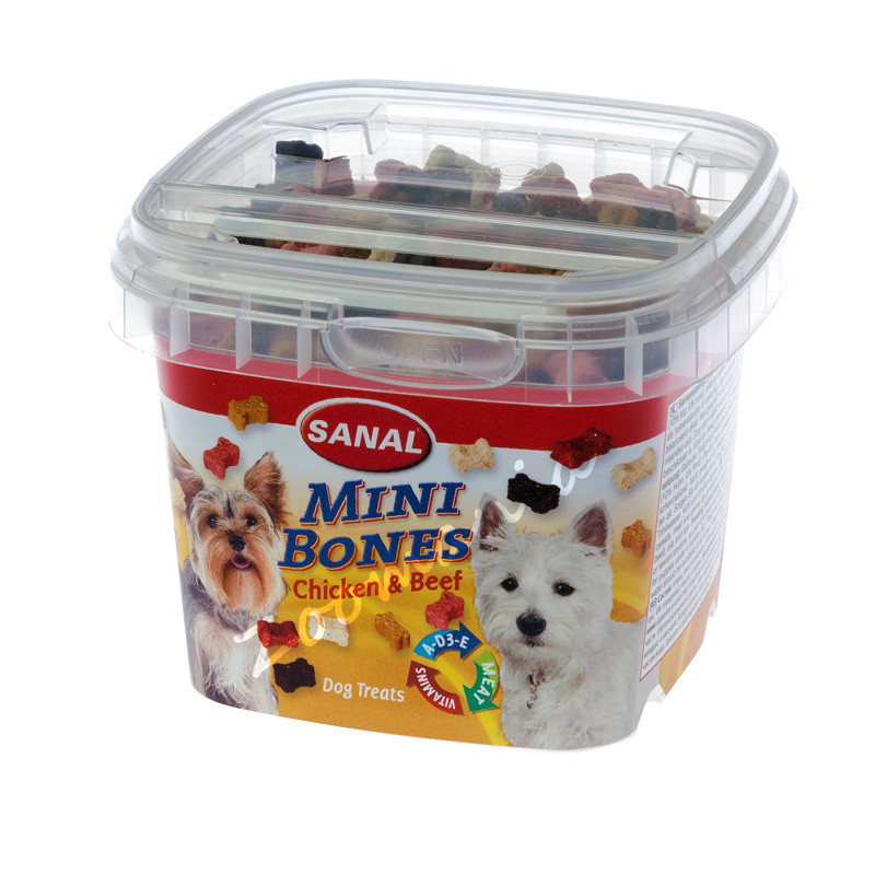 Тренировъчни кучешки бисквитки за дребни породи Sanal Mini Bones - 100 гр