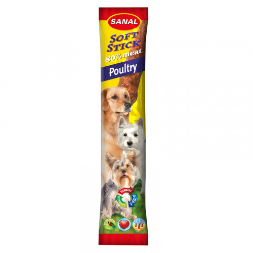 Вкусни кучешки саламчета - Sanal Softsicks Poultry - 12 гр