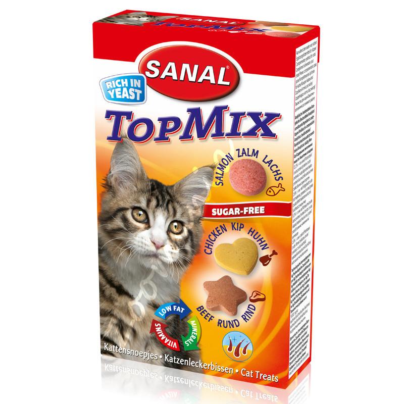 Витамини за котки с говеждо, пилешко и сьомга - Sanal Cat Vitamines Salmon, Beef and Chicken 50 гр