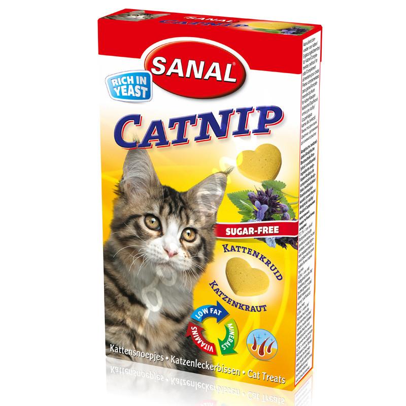 Витамини за котки с коча билка - Sanal Cat Vitamines Catnip 30 гр