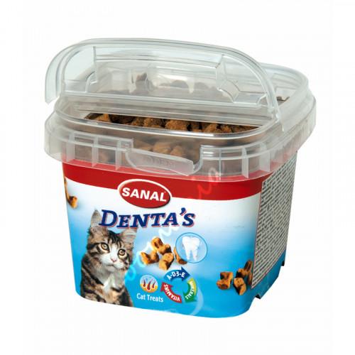 Лакомство за котки за дентална хигиена - Sanal Denta's Bites - 75 гр