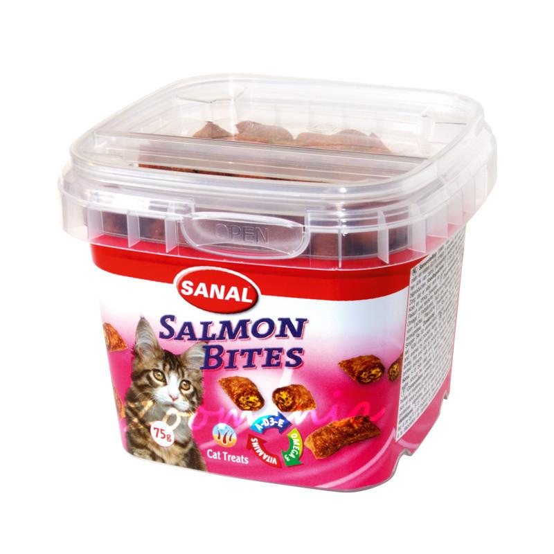 Лакомство за котки със сьомга - Sanal Salmon Bites - 75 гр