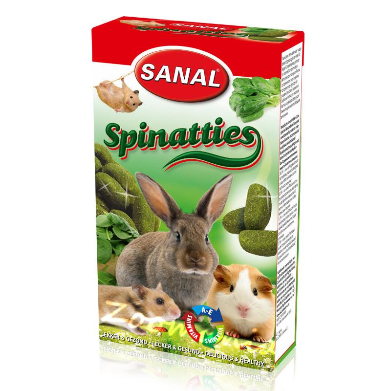 Лакомство за зайче, хамстер и морско свинче със спанак - Sanal Rodent Spinatties - 45 гр