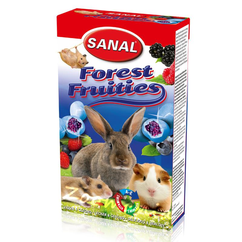Лакомство за зайче, хамстер и морско свинче с боровинки - Sanal Rodent Forest Fruities - 45 гр