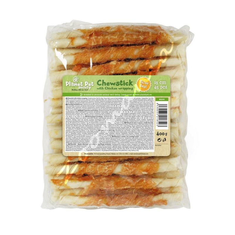 Кучешко лакомство от телешка кожа - Chewstick Chicken Wrapped - 1 бр.