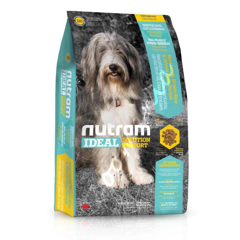 Хипоалергична и холистична храна за кучета в зряла възраст I20 Nutram Ideal Solution Support® Skin, Coat and Stomach Dog Food La