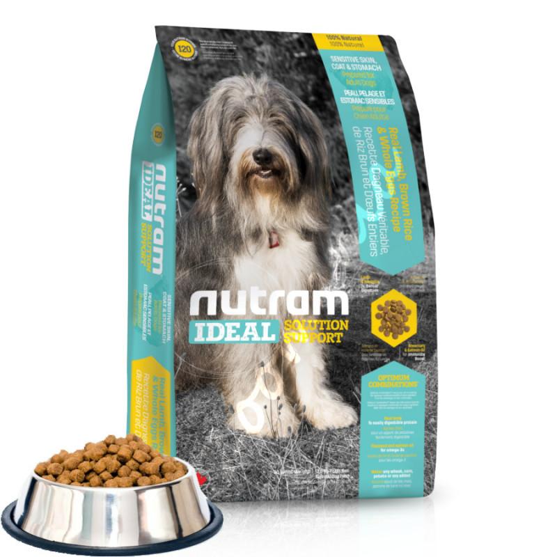 Хипоалергична и холистична кучешка храна I20 Nutram Ideal Solution Support® Skin, Coat and Stomach Dog Food Lamb