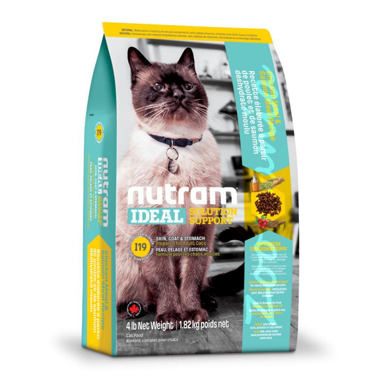 Холистична храна за котки - I19 Nutram Ideal Solution Support® Skin, Coat and Stomach Cat Food