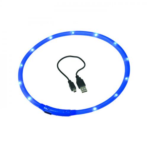 Светеща кучешка каишка с USB - 40 cm Ø10мм