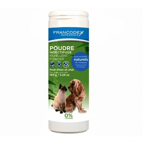 Противопаразитна пудра за кучета и котки - Francodex Repellent Powder 150 гр