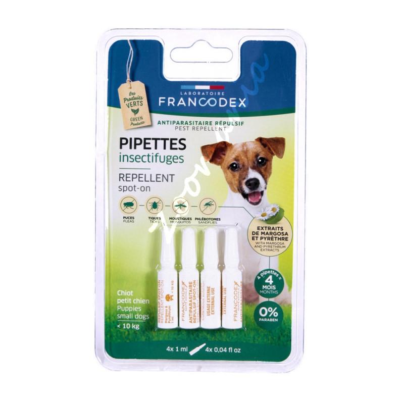 Противопаразитни пипети за кутрета и кучета под 10 кг - 4 х 1 мл
