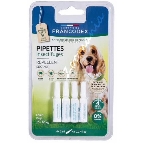 Противопаразитни пипети за кучета от 10 до 20 кг - 4 х 2 мл