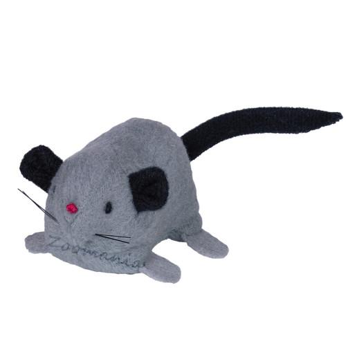 Играчка за котки - плюшена мишка с коча билка (catnip)